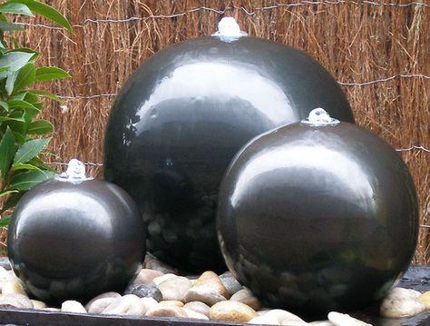 Water Feature Ceramic Triple Sphere LED Lights Fountain Cascade Garden Ball Set in Garden & Patio, Ponds & Water Features, Water Features