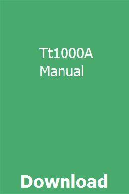 Tt1000a Manual Repair Manuals Manual Hino