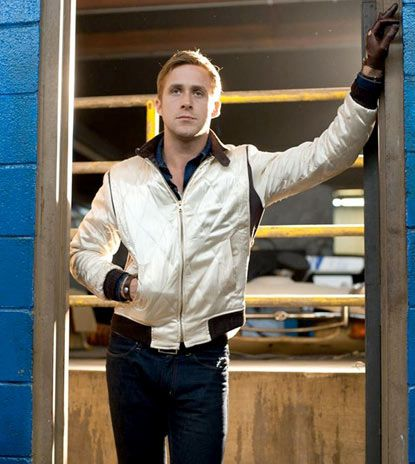 The bomber jacket  Ryan Gosling in Drive