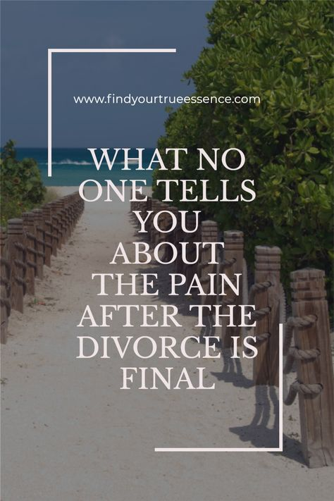 The pain of going through a divorce is raw and deep. During the time of the actual separation, divorce proceedings and moving if that is what you needed or wanted to do, the pain can be unbearable at times. But no one really talks about the next level of pain that comes when everything is final. #divorce #divorcesupport #healingafterheartbreak #healingfromdivorce