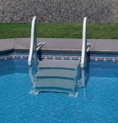 Ocean Blue Mighty Step 25in Outside Entry Safety Ladder 400600 489 25 Pool Steps Inground Swimming Pool Ladders Pool Ladder