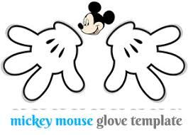 Image Result For Mickey Mouse Glove Template Free Printable Templates Printable Free Mickey Mouse Gloves Mickey Mouse