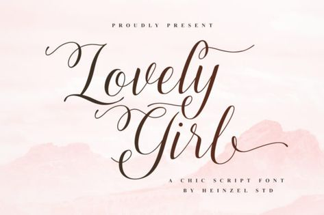 Lovely Girl (Font) by Heinzel Std · Creative Fabrica