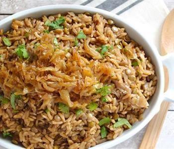 طريقة عمل المجدرة السورية في رمضان Recipes Vegetarian Recipes Lentils And Rice