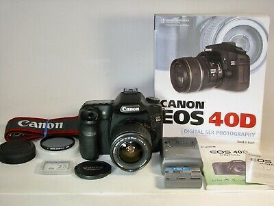Canon Eos 40d 10 1mp Dslr Camera With Canon Zoom Lens Charger Battery Instr Zoom Lens Digital Camera Canon Eos