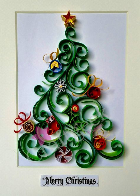 christmas tree Free shippingquilled paper artpaper by PaperSplash