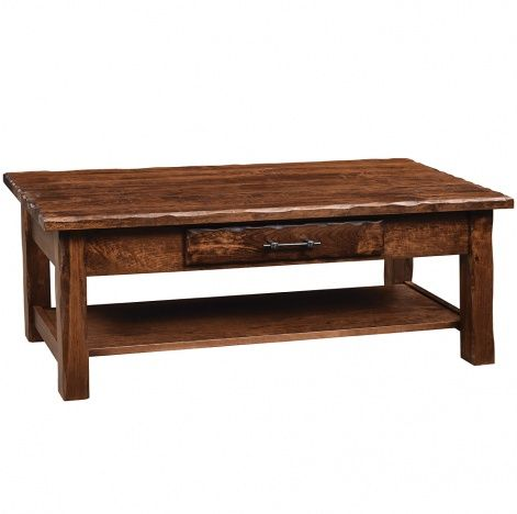 Hand Hewn Amish Coffee Table Rustic Amish Furniture Cabinfield