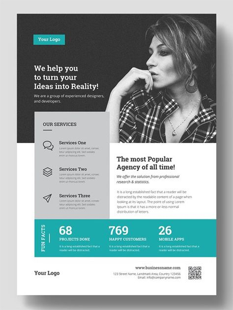 Flyer Templates: 27 Business Flyers | Design | Graphic Design Junction
