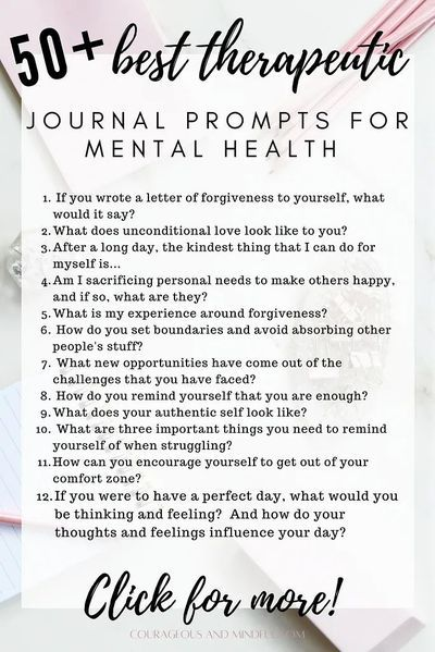 50+ Best Therapeutic Journal Writing Mental Health Prompts