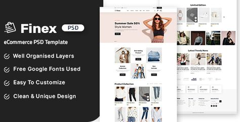 Finex - eCommerce PSD Template