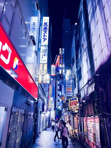 طوكيو شارع الليل Tokyo Night Tokyo Street