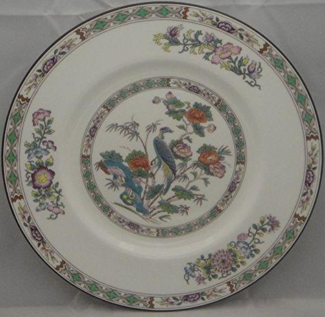 Set of 4 Dinner Plates Wedgwood China Kutani Crane