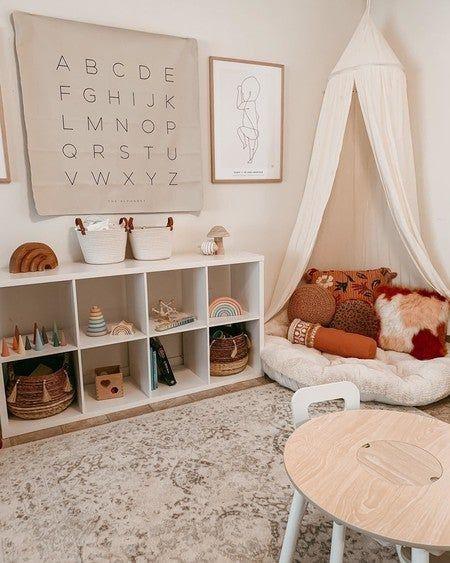 Toddler Playroom, Kids Play Rooms, Ikea Kids Playroom, Montessori Toddler Rooms, Playroom Rug, Colorful Playroom, Modern Playroom, Kids Room Organization, Playroom Organization