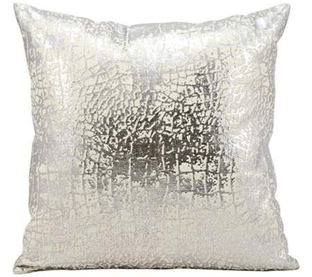 "Kathy Ireland Memories 18"" Square Silver Pillow 