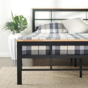 Zinus Marcia Metal And Wood Platform Bed Twin Hd Hbpbc 14t