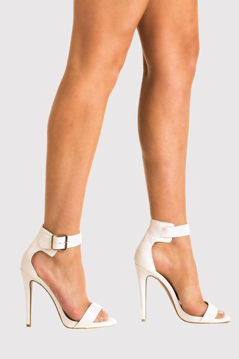 Pilot Womens Velvet Ankle Strap High Heel Sandals