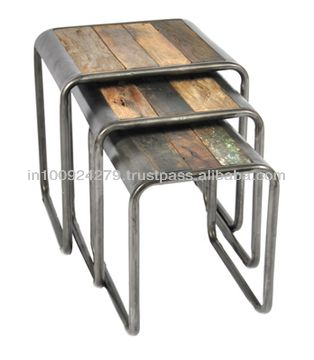 Industrial Nest Of Stool   Buy Vintage Industrial Furniture,Industrial  Reclaimed Wood Furniture,Nest Of 3 Tables Product On Alibaba.com |  Industrial ...