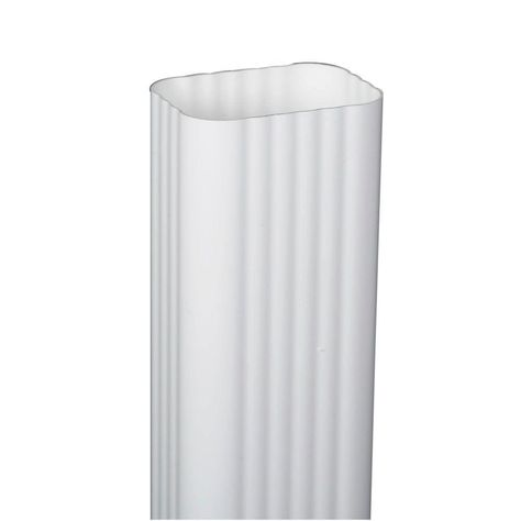 Amerimax Home Products 2 In X 3 In X 120 In White Vinyl Downspout White Vinyl Downspout Vinyl