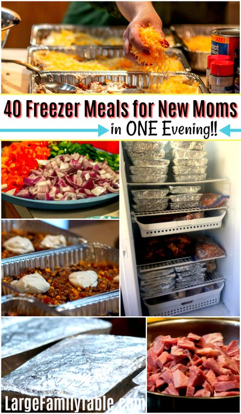 If you're looking for freezer meals for new moms who've come to the right place. Here are 40 easy freezer meals for new moms that are fast and simple! meals for new moms easy How to Cook 40 Freezer Meals for New Moms in ONE Evening! Vegetarian Freezer Meals, Freezer Friendly Meals, Crock Pot Freezer, Healthy Freezer Meals, Make Ahead Meals, Freezer Cooking, Easy Meals, Chicken Freezer, Budget Freezer Meals
