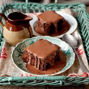 Chocolate sponge with chocolate custard recipe