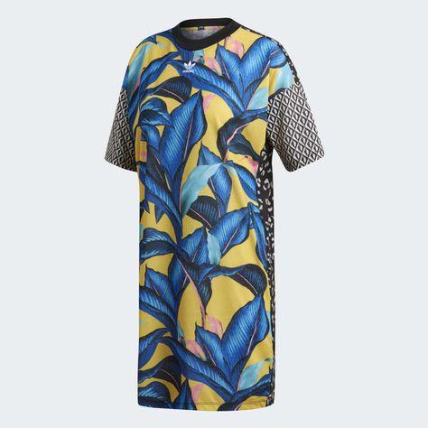 equilibrar compañerismo sólido  Tee Dress Multicolor DH3057 | Ropa adidas, Vestido camiseta, Camisetas
