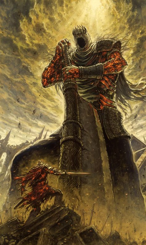 Yhorm the giant, the last giant in Dark Souls 2 apparently wasn't the last one. (I'm not very well known with the Dark Souls lore Dark Fantasy Art, Fantasy Artwork, Dark Art, Art Dark Souls, Dark Souls Lore, The Last Giant, Soul Saga, Art Noir, Warrior Angel