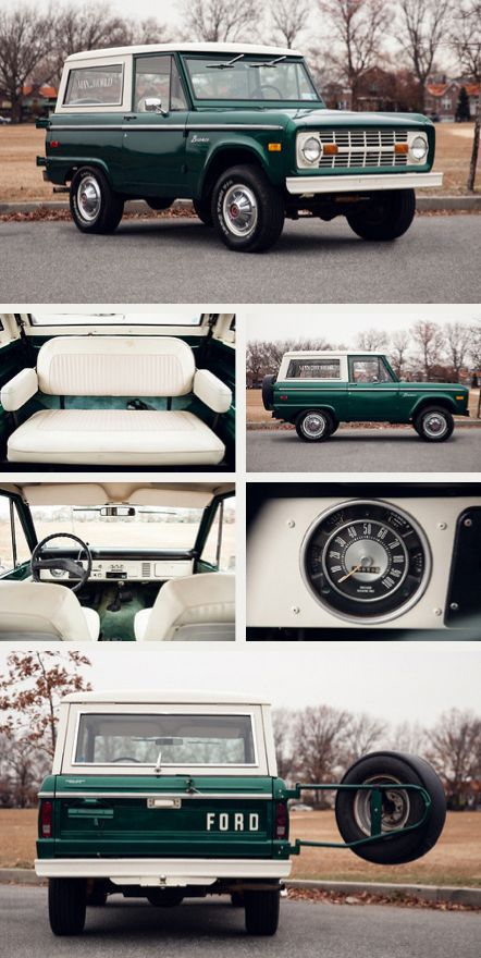 1976 Ford Bronco - I want these - Klassiche Ford Auto - Truck Classic Bronco, Ford Classic Cars, Classic Trucks, Classic Ford Broncos, Chevy Impala, Chevy Chevrolet, Vw Vintage, Vintage Trucks, Vintage Racing