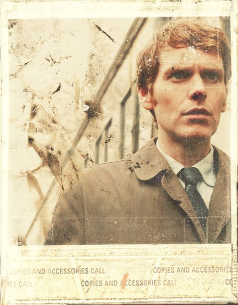 nice 60s-style graphic of shaun evans as endeavour morse