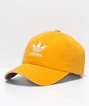 Adidas Women S Original Trace Yellow Strapback Hat Adidas Women Strapback Hats Yellow Adidas