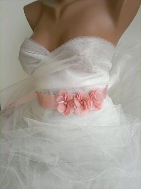 170591fc8b972 Bridal belt, Pink Bridal sash, Floral Bridal Belt, Blush bridal sash belt,  Flower wedding sash, Flower wedding belt, Vera Wang Inspired