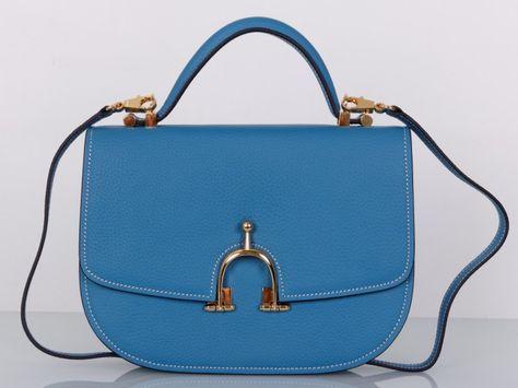 09149ac43d9c Сумка Hermes кожаная, новая модель из синей кожи. Размер 28х21х7см #19279