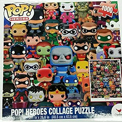 Funko Pop Heroes Dc Comics Pop Heroes Collage Jigsaw Puzzle 1000 Pieces Pop Heroes Funko Pop Marvel Batman Puzzle