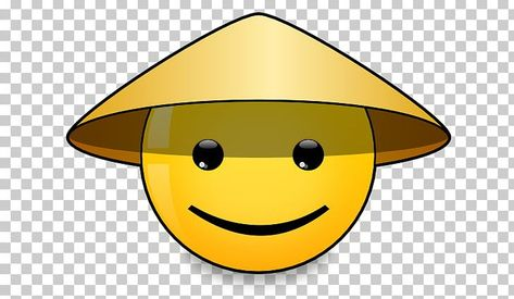 Smiley Asian Conical Hat China Straw Hat Png Free Download