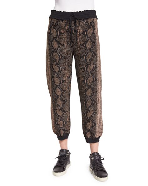 Drawstring-Waist Jogger Pants, Brown/Multi, Women's, Size: XX-LARGE, Brown Multicolour - Alexander McQueen