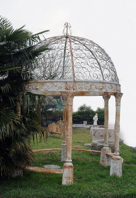 Gusseiserner Pavillon Pavillon Gusseisen Und Kuppel