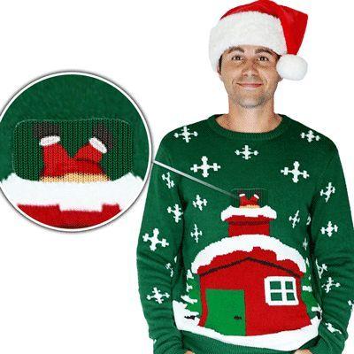 Foute Kersttrui Xl.Foute Kersttrui Kerstman Schoorsteen Christmas Sweaters Pretty