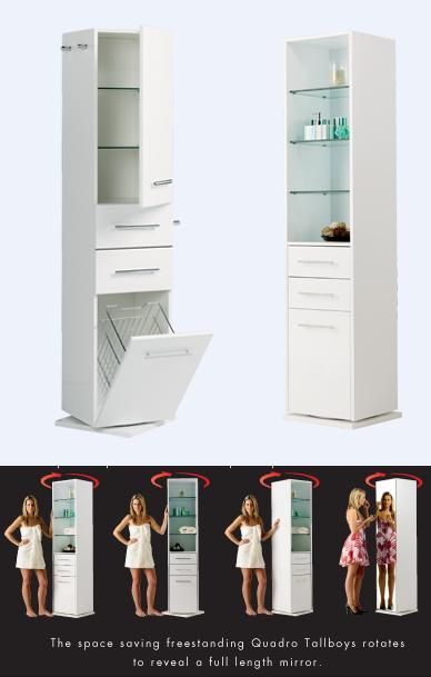 1800mm Deluxe Revolving Full Length Mirror Quadro Tallboy 2 Robe Hooks And Rail The From Ba