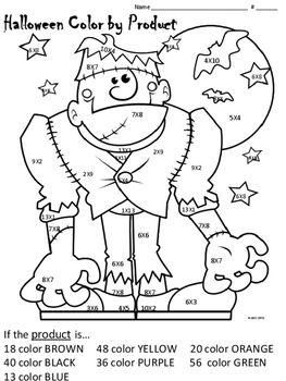 Halloween Color By Product Halloween Coloring Sheets Monster Coloring Pages Halloween Coloring