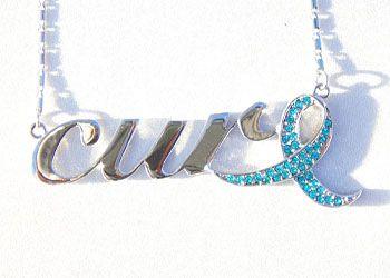 "New CERVICAL OVARIAN CANCER Awareness BELIEVE Teal Ribbon BottleCap Necklace 24/"""