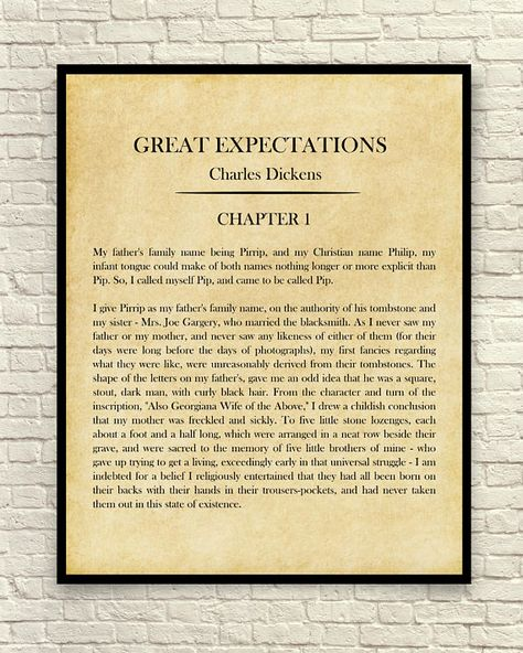 Classic Book Page Charles Dickens Great Expectations The