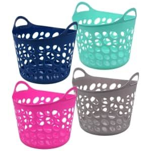 View Colorful Plastic Oval Storage Totes With Images Storage Baskets Storage Totes Storage