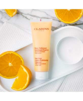Clarins One Step Gentle Exfoliating Cleanser With Orange Extract 4 3 Oz Reviews Skin Care Beauty Macy S In 2020 Gentle Exfoliating Cleanser Exfoliating Cleanser Beauty Skin Care