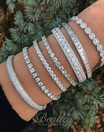 5286815d16970 Diamond bangles + tennis bracelets + statement jewelry + unique ...