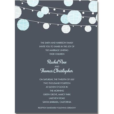 Rehearsal Dinner Colorful Paper Lanterns Card Dinner invitations - invitation template online