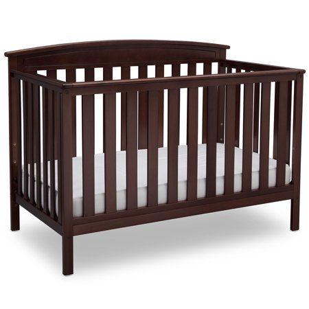 Delta Children Gateway 4 In 1 Convertible Crib Dark Chocolate Walmart Com Baby Cribs Convertible Delta Children Cribs