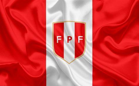 Descargar Fondos De Pantalla Peru Equipo De Futbol Nacional Logotipo Emblema La Bandera Del Peru La Federacion De Futbol Campeonato Del Mundo El Futbol L Seleccion Peruana De Futbol Bandera Del