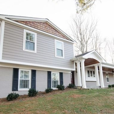 Image Result For Quad Level House With Brick Exterior Paint Colors Split Level Remodel Exterior Exterior Remodel Exterior House Colors