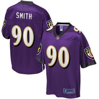 Men's Baltimore Ravens Za'Darius Smith NFL Pro Line Team Color Jersey