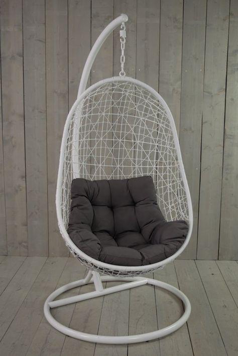 Hangstoel Egg Wit.Gpdesign Sturdy Hangstoel Wit Egg In 2020 Hangstoel Hangende