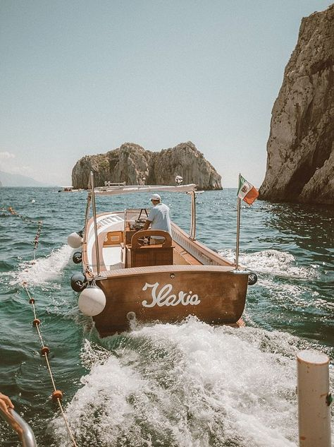 Day in Capri Marina Piccola for a could of boating around the Island of Capri - awesome rock formations/cliffs.Marina Piccola for a could of boating around the Island of Capri - awesome rock formations/cliffs. Oh The Places You'll Go, Places To Travel, Places To Visit, Saaj Paris, Les Continents, Destination Voyage, Europe Destinations, Travel Aesthetic, Summer Aesthetic